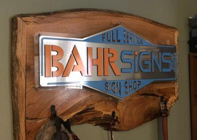 BahrSigns acrylic Interior live edge backlit